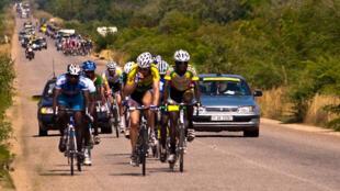 Lors du Tour du Faso 2013.