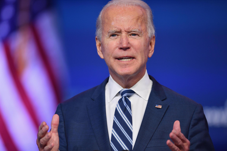 El presidente electo de EE UU, Joe Biden, pronuncia un discurso en Wilmington, Delaware, Estados Unidos, el 10 de noviembre de 2020