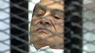 L'ancien président égyptien Hosni Moubarak, le 3 août 2011.