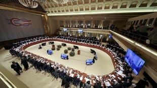 G20 ministers gather in Baden Baden, Germany on March 17, 2017.