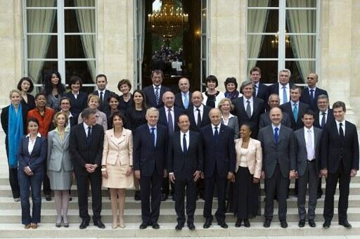 Первый совет министров правительства Жан-Марка Эро в Елисейском дворце 17 мая 2012 г.