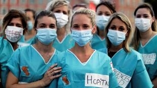 Derniers rassemblements dans plusieurs villes en France, avant la fin de la concertation du «Ségur de la santé»: ici le 30 juin 2020 à Nice.
