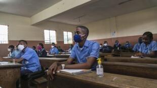 Classe au collège Jean Benoit à Yaoundé, le 1er juin 2020 (Photo d'illustration).