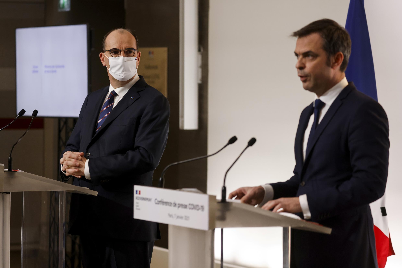Situação continua preocupante em França por causa da Covid disseram PM, Jean Castex e Ministro da Saúde Olivier Véran