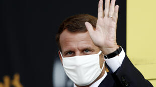 El presidente Emmanuel Macron, el 16 de septiembre de 2020 en Méribel (Francia)