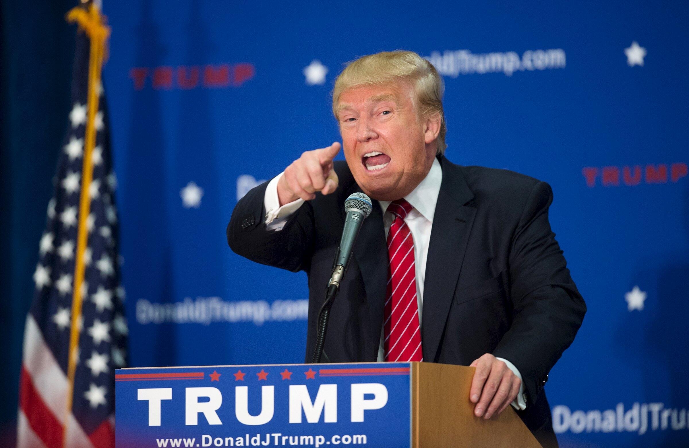 Donald Trump en New Hampshire.