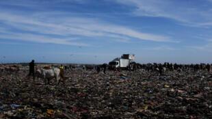 250 à 300 camions, essentiellement de Dakar et sa banlieue, viennent chaque jour à Mbeubeus au Sénégal.