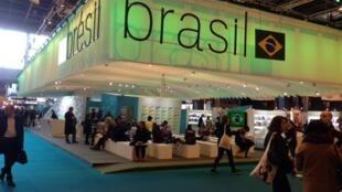 Pavilhão de honra do Brasil no Salão do Livro de Paris.