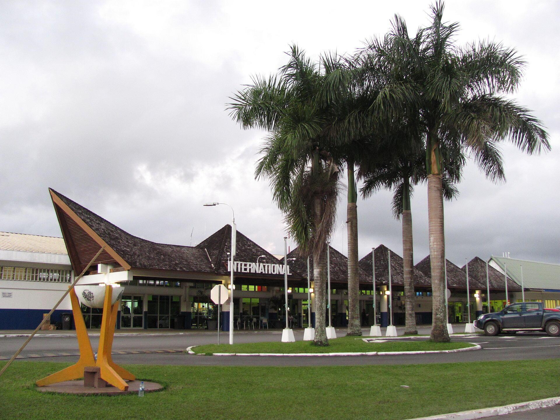 Phi trường Bauerfield ở Port Vila, thủ đô đảo quốc Vanuatu.