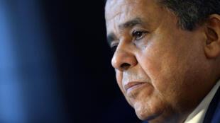 Mohammed al-Dairi,  ministre libyen des Affaires étrangères dans le gouvernement provisoire basé à Bayda dans l'est du pays, à Paris, le 24 août 2015.