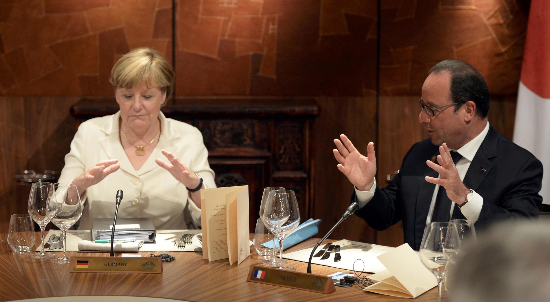 Thủ tướng Angela Merkel et  Tổng thống François Hollande tại thượng đỉnh G7 ngày 07/06/2015.