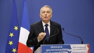 O primeiro-ministro francês, Jean-Marc Ayrault.