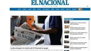 Dernière version papier du journal «El Nacional», le 14 décembre 2018. (Photo d'illustration).