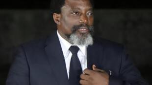 O  Presidente da República Democrática do Congo. Kingakati. 7 de Agosto de 2018