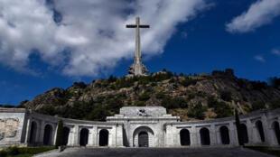San Lorenzo del Escorial, près de Madrid, dans la Valle de los Caidos (la vallée des morts), monument aux combattants francophones décédés au cours de la guerre civile espagnole et également tombeau de Franco. Photo prise le 3 juillet 2018.