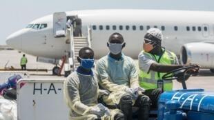Arrivée des Haïtiens expuslés des Etats-Unis, le 26 mai 2020 à l'aéroport de Port-au-Prince.