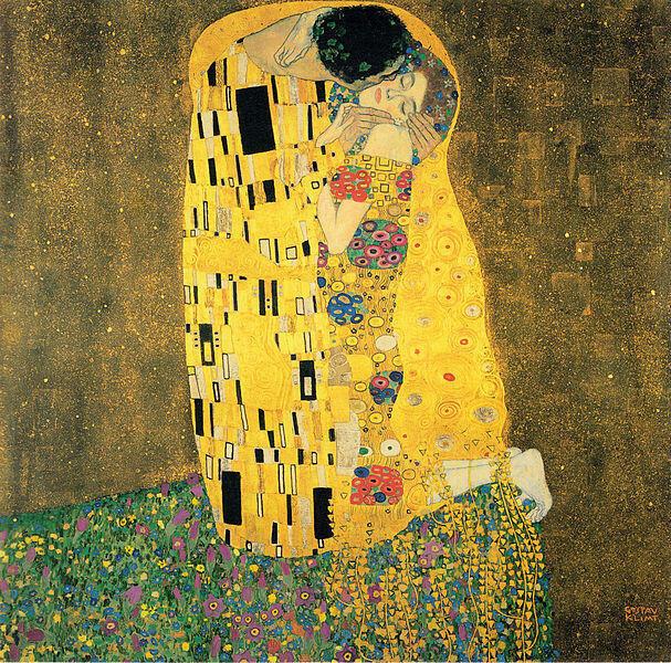 奥地利画家克里姆特绘制的《吻》