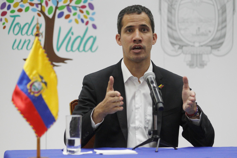 Tổng thống lâm thời tự phong Venezuela Juan Guaidó tại Salinas, Ecuador, ngày 02/03/2019.