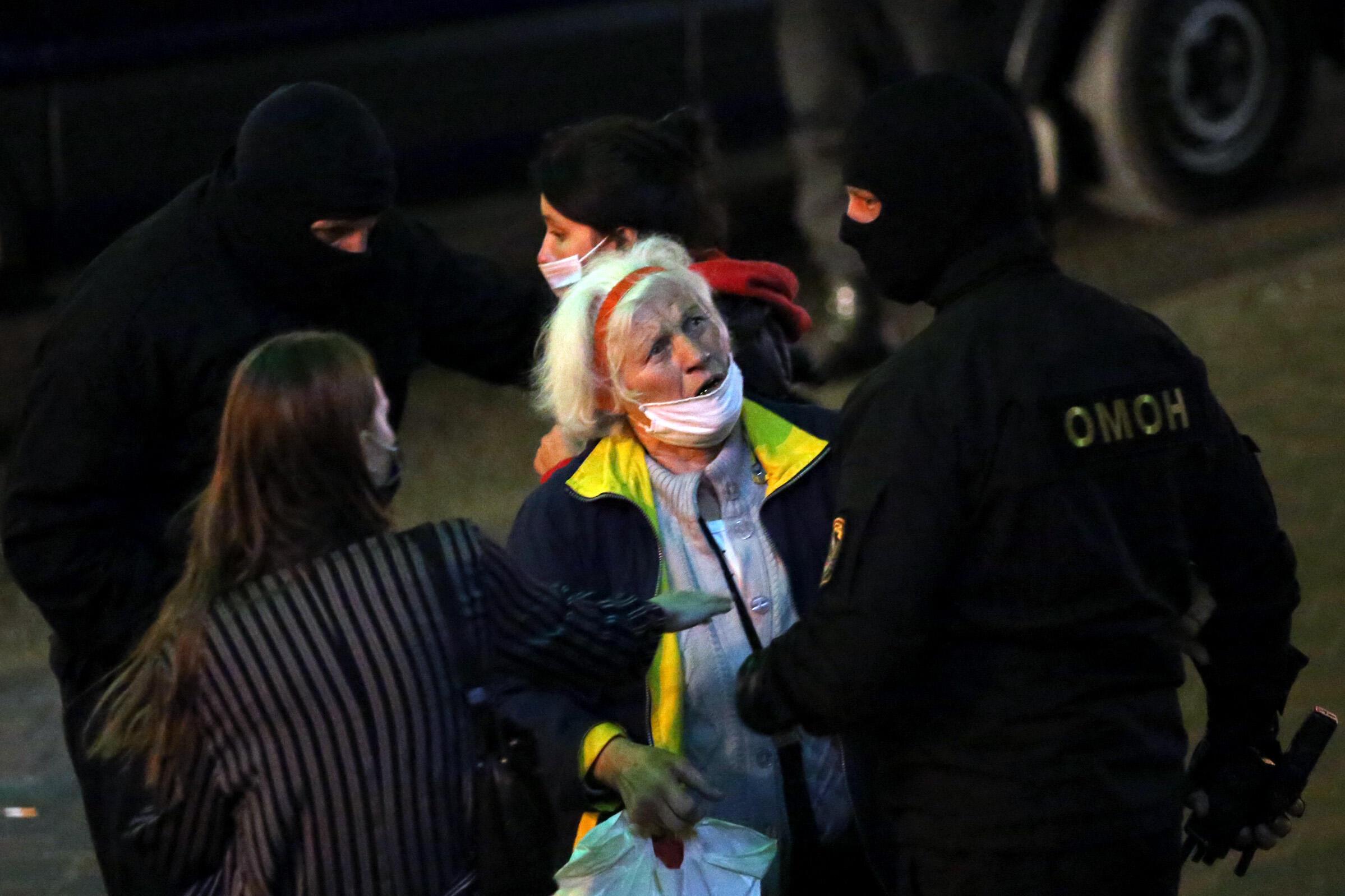 Protesto em Minsk, na Bielorrússia.