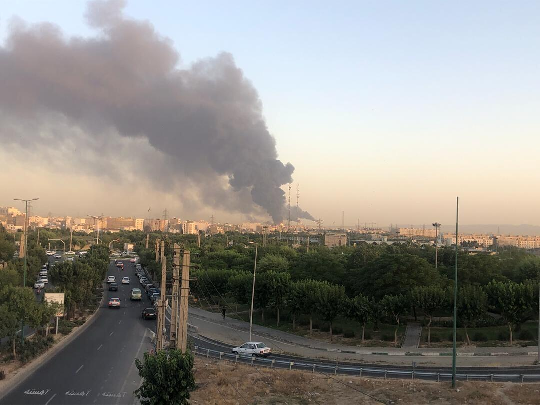 Incendie-Raffinerie de Theran-Iran