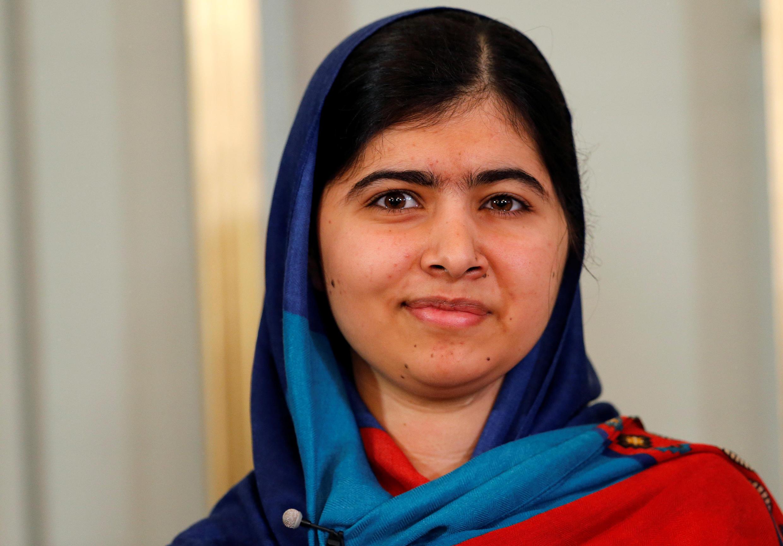 諾貝爾和平獎得主馬拉拉•優素福•紮伊(Malala Yousafzai)攝於2014年12月9日。