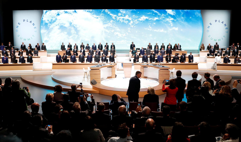 在巴黎召開的首屆同一個星球峰會,2017年12月12日。