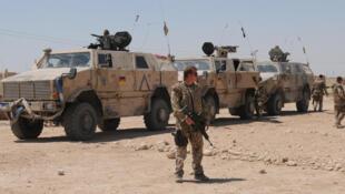 Des soldats allemands en Afghanistan: chaque déploiement de la Bundeswehr est soumis à un vote du Parlement.