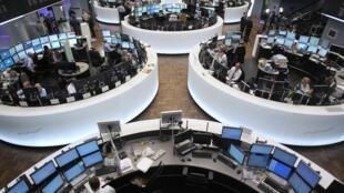 Thị trường chứng khoán Frankfurt, Đức ngày 07/05/2012.