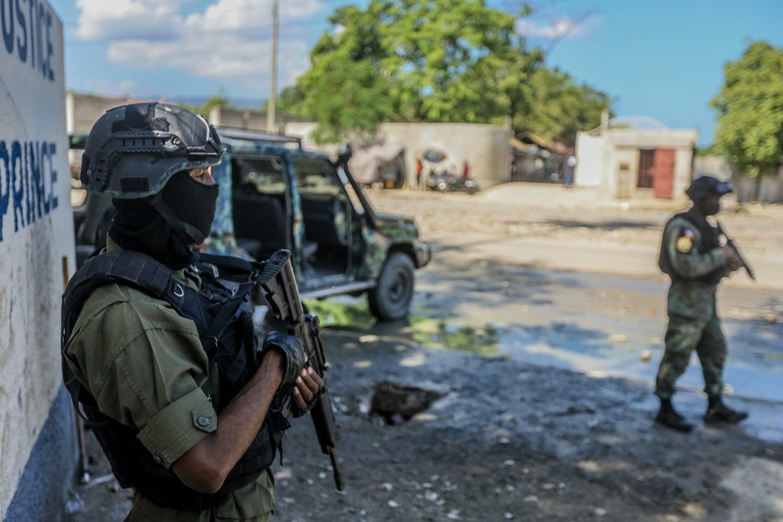 Soldiers in Haiti in October 2021
