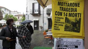 Queda de cabine do teleférico causou comoção na Itália