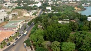 Vue générale du centre-ville de Dakar.