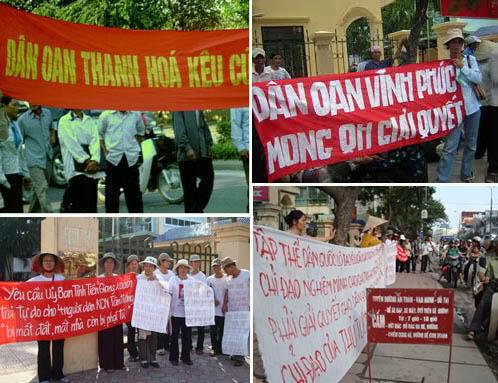 Tại Việt Nam, rất nhiều người là nạn nhân của các vụ trưng thu đất.