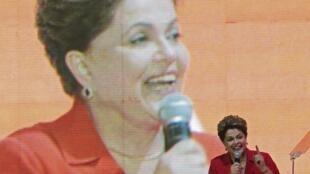 La presidenta de Brasil y candidata Dilma Rousseff.