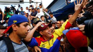 Henri Falcón, challenger du président Maduro pour la présidentielle du 20 mai. Barquisimeto, le 17 mai 2018.