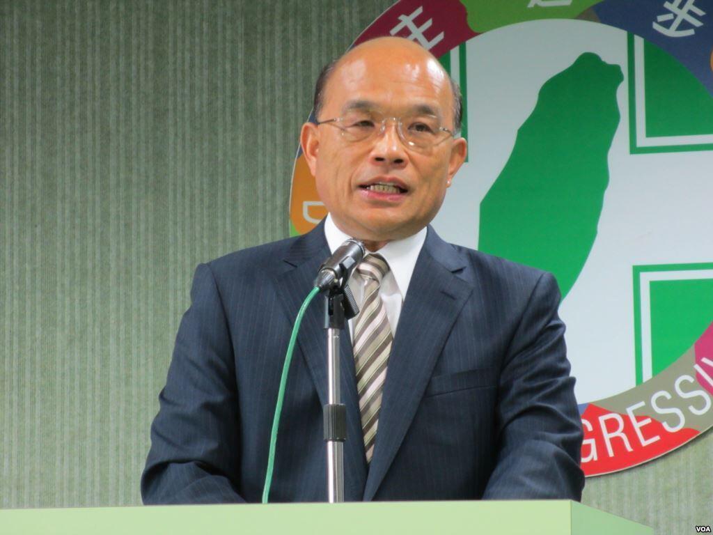 民进党主席苏贞昌主导发动倒阁案