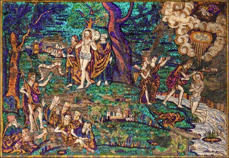 Mosaico de plumas recién adquirido por el Museo del Quai Branly. La pieza se encontraba dentro del territorio francés.