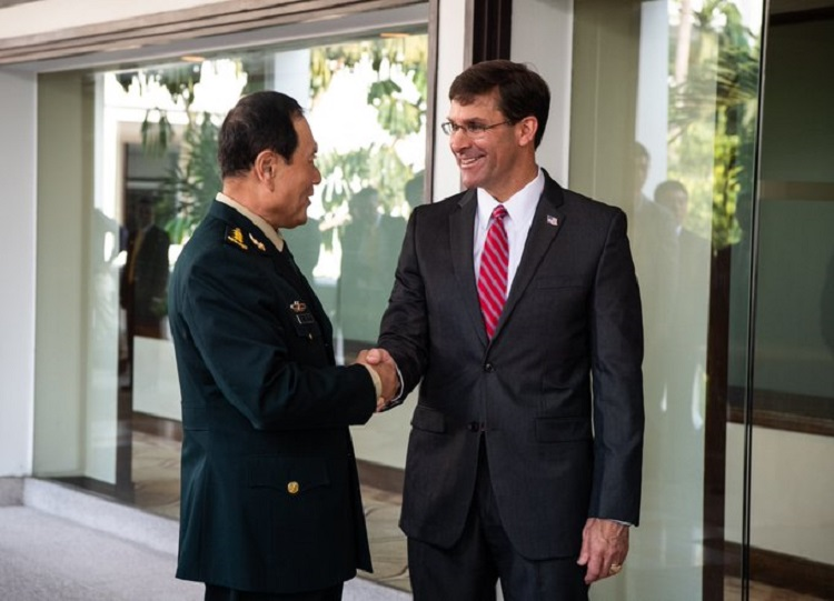 Secretary-of-Defense-Mark-Esper-Meet-with-PRC-Minister-of-National-Defense-General-Wei-Fenghe-on-November-18