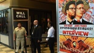 """骇客团体""""和平守护者""""威胁影院和观众不得看电影《刺杀金正恩》(也译为《名嘴出任务》)"""