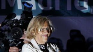Manuela Carmena, future maire de Madrid en Espagne.