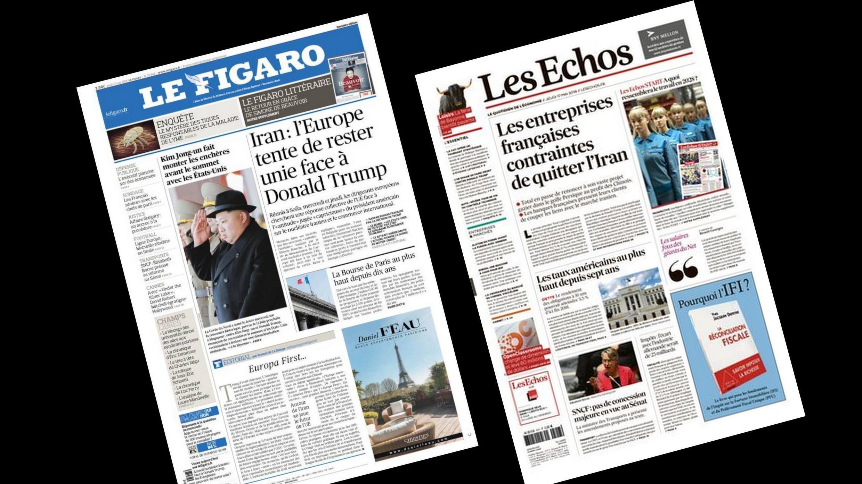 A imprensa francesa analisa os dedobramentos da crise aberta com o abandono do programa nuclear iraniano pelos Estados Unidos.