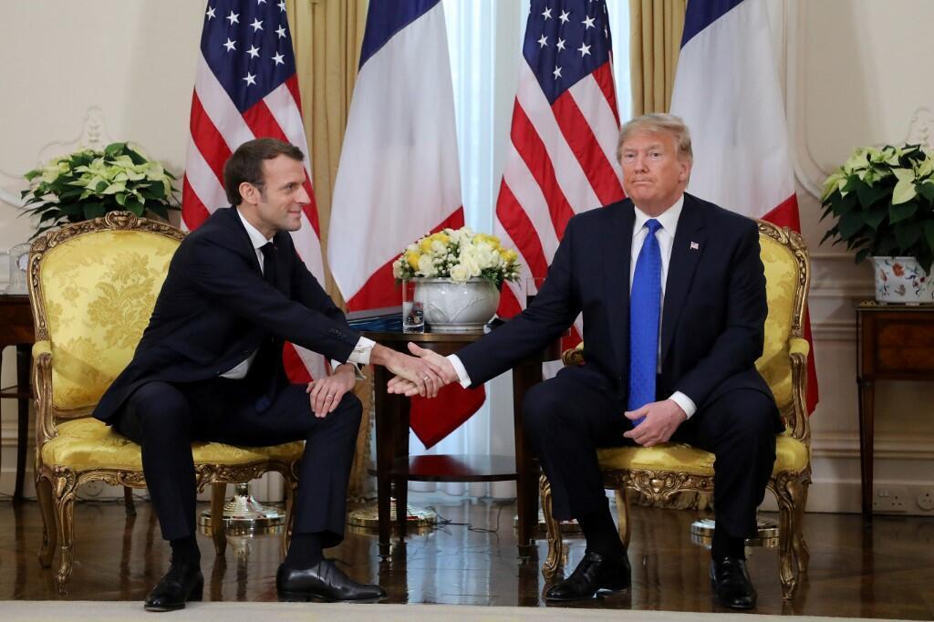 امانوئل ماکرون و دونالد ترامپ، روسای جمهوری فرانسه و آمریکا-تصویر آرشیوی