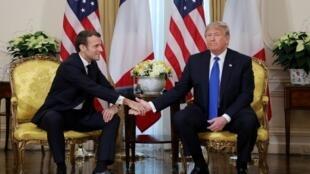 Президенты Франции и США на саммите НАТО в Лондоне 3 декабря 2019.