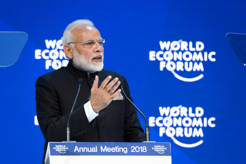 Thủ tướng Ấn Độ Narendra Modi tại diễn đàn Davos, Thụy Sĩ ngày 23/01/2018.