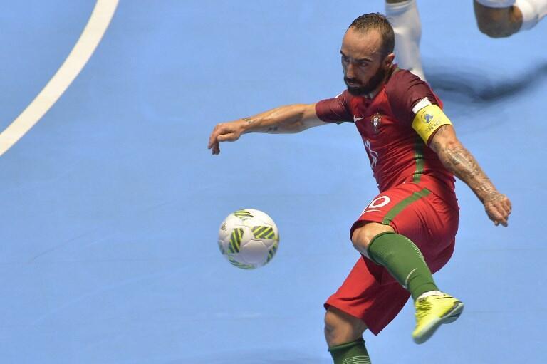 Ricardinho, estrela portuguesa do futsal.