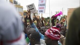 Le M5 a une nouvelle fois mobilisé à Bamako, le 11 août 2020.