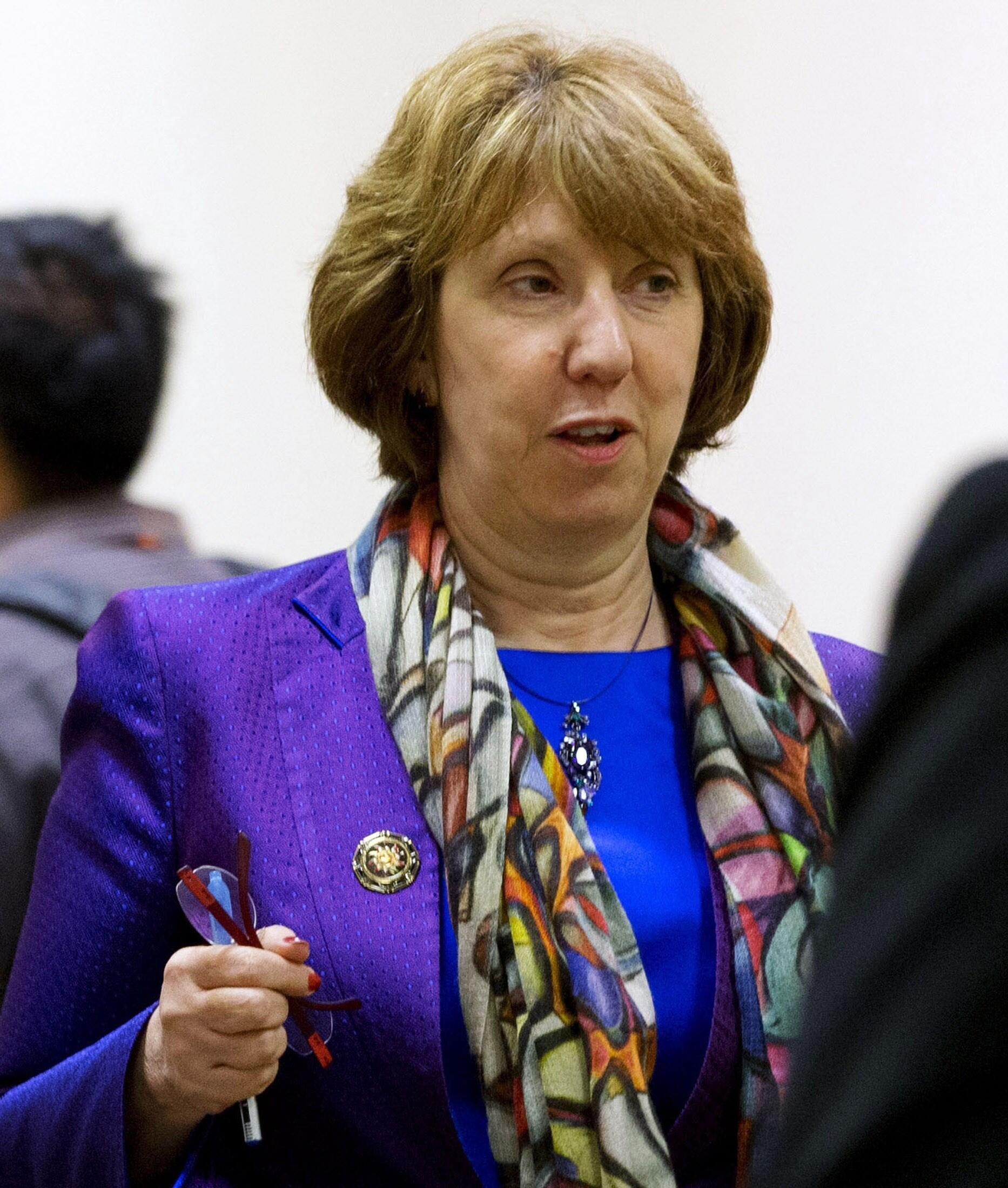 Глава европейской дипломатии Кэтрин Эштон 01/07/2013