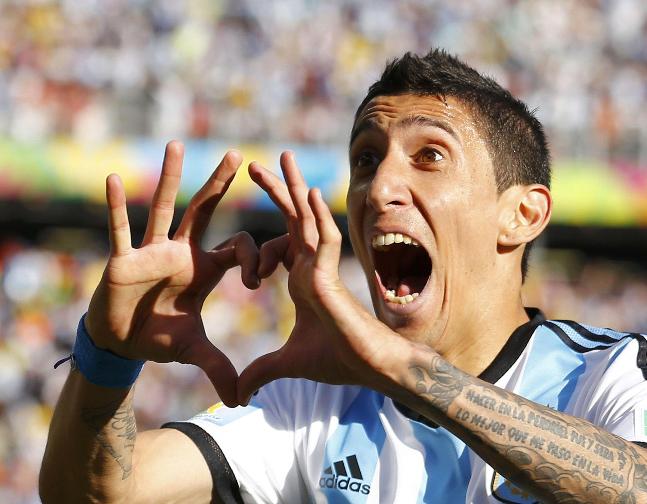 Ángel Di María apontou o único golo do encontro entre a Argentina e a Suíça.