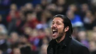 Diego Simeone, l'entraîneur de l'Atlético de Madrid.