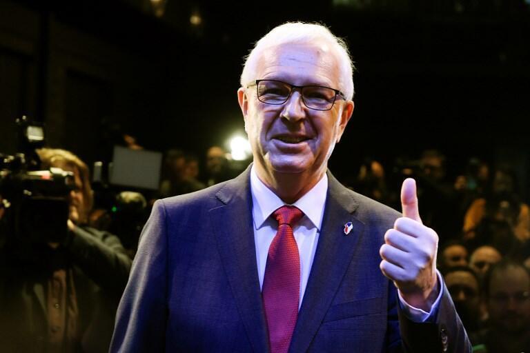 Jiri Drahos le soir du premier tour de l'élection présidentielle tchèque.