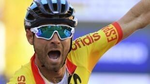 Alejandro Valverde est devenu champion du monde de cyclisme sur route en Autriche, le 30 septembre 2018.